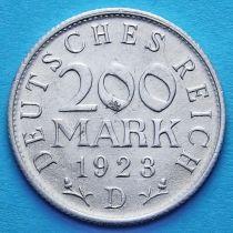 Германия 200 марок 1923 год. D.