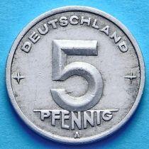 ГДР 5 пфеннигов 1948-1950 год. А