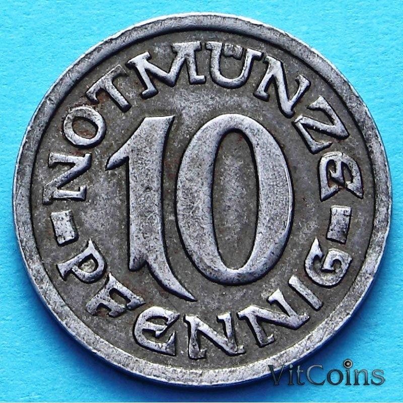 Монета Германии 10 пфеннигов 1920 год. Нотгельд Вестфалия