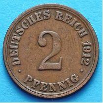 Германия 2 пфеннига 1904-1916 год.