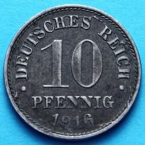 Германия 10 пфеннигов 1916-1917 год. Железо.