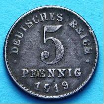 Германия 5 пфеннигов 1915-1922 год.