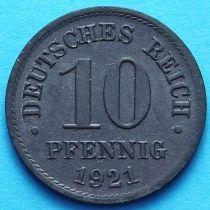 Германия 10 пфеннигов 1921 год. Цинк
