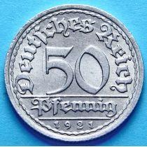 Германия 50 пфеннигов 1920-1922 год. UNC. Берлин (А)