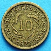 Германия 10 рейхспфеннигов 1924-1936 год. Берлин.