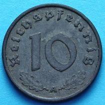 Германия 10 рейхспфеннигов 1940 год. А.