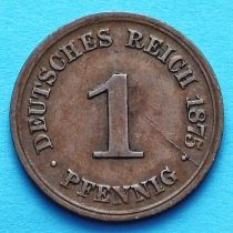 Германия 1 пфенниг 1874-1889 год.