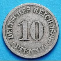 Германия 10 пфеннигов 1874-1889 год.