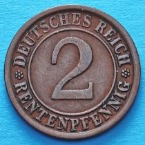 Германия 2 рентенпфеннига 1924 год.