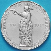 Франкфурт 1 талер 1862 год. Стрелковый фестиваль.