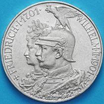Пруссия, Германия 5 марок 1901 год. 200 лет Пруссии. Серебро.