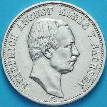 Саксония, Германия 3 марки 1909 год. Серебро.