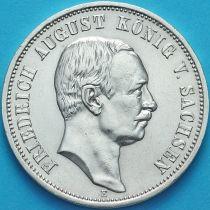 Саксония, Германия 3 марки 1910 год. Серебро.