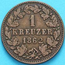 Нассау 1 крейцер 1862 год.