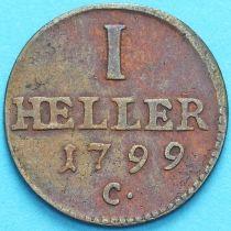 Саксония 1 геллер 1799 год. С