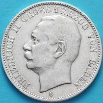 Баден, Германия, 3 марки 1909 год. Серебро.