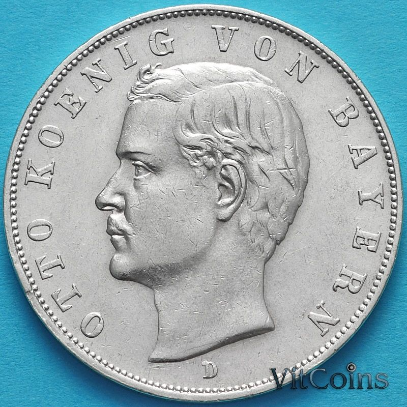 Монета Германии 3 марки 1911 год. Серебро D.