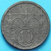 Чехия, Богемия и Моравия 10 геллеров 1944 год.