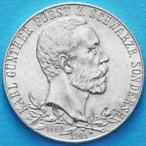 Шварцбург Зондерсхаузен , Германия 2 марки 1905 год. Серебро.