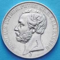 Ольденбург , Германия 1 талер 1866 год. Серебро.