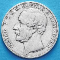 Ганновер, Германия 1 талер 1861 год. Серебро.