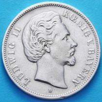Бавария, Германия 5 марок 1875 год. Серебро. D