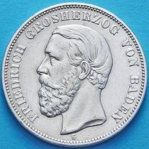 Баден, Германия 5 марок 1902 год. Серебро G.