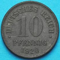 Германия 10 пфеннигов 1920 год.