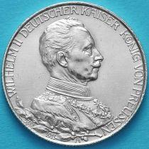 Пруссия, 2 марки 1913 год. 25 лет правлению Вильгельма II . Серебро.