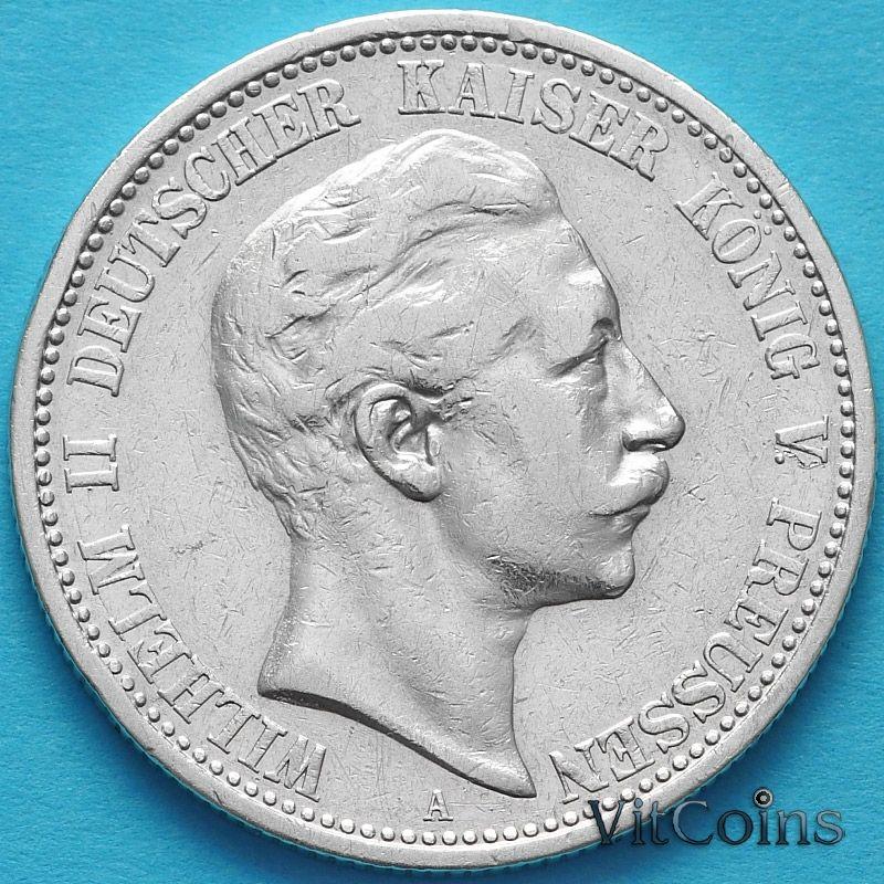 Монета Пруссия, 2 марки 1903 год. Серебро.