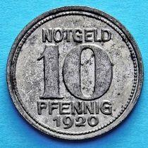 Германия 10 пфеннигов 1920 год. Нотгельд Кобленц.