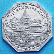 Германия 20 пфеннигов. Трамвайный Нотгельд Нюрнберга. Ворота Тиргэртнертор.
