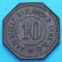 Германия 10 пфеннигов 1917 год. Нотгельд Квакенбрюк.