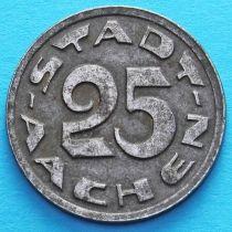Германия 25 пфеннигов 1920 год. Нотгельд Аахен. №1