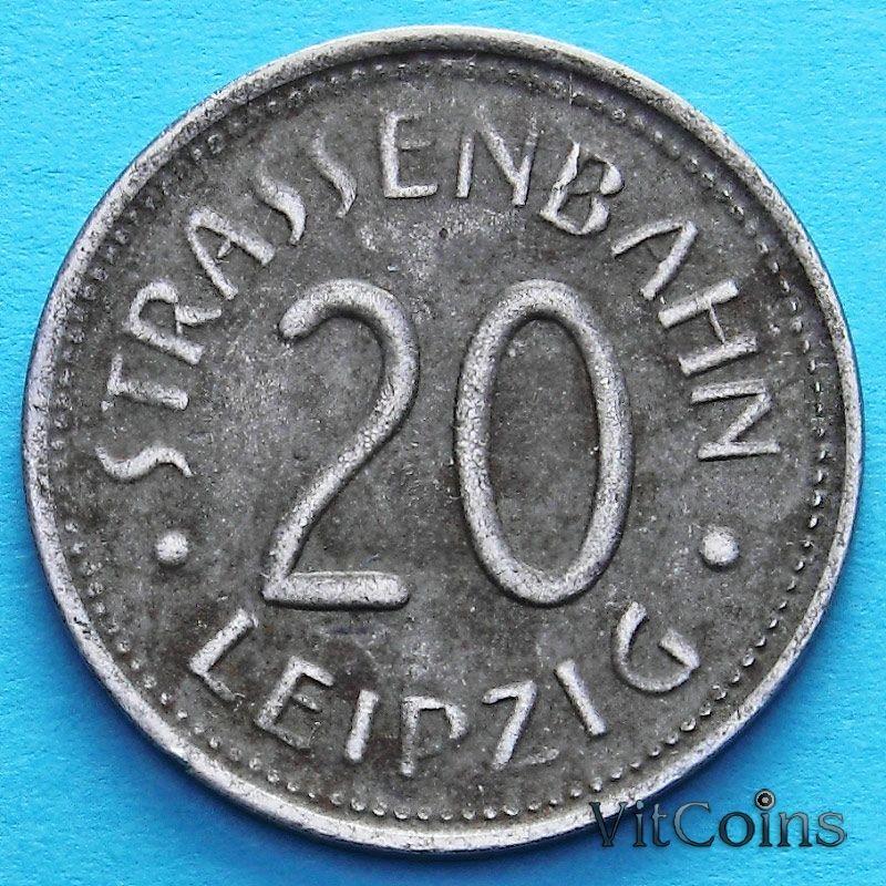 Монета Германии 20 пфеннигов 1920 год. Нотгельд Лейпциг.