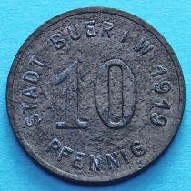 Германия 10 пфеннигов 1919 год. Нотгельд Буер.