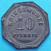 Германия 10 пфеннигов 1917 год. Нотгельд Бенсхейм.