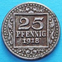 Германия 25 пфеннигов 1918 год. Нотгельд Мюнстер.