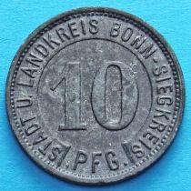 Германия 10 пфеннигов 1919 год. Нотгельд Бонн.
