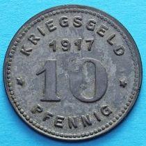 Германия 10 пфеннигов 1917 год. Нотгельд Виттен.