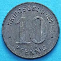 Германия 10 пфеннигов 1917 год. Нотгельд Эльберфельд.