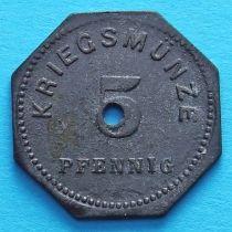 Германия 5 пфеннигов 1917 год. Нотгельд Бенсхайм.