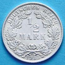 Германия 1/2 марки 1913 г. Серебро А