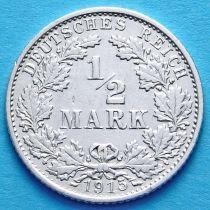 Германия 1/2 марки 1915 г. Серебро G
