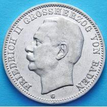 Баден, Германия, 3 марки 1910 год. Серебро.