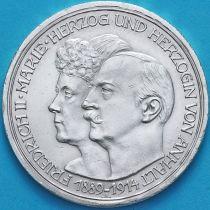 Анхальт-Дессау, Германия 3 марки 1914 год. Серебро.