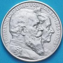 Баден, Германия, 2 марки 1906 год. Фридрих I и Луиза Прусская. Серебро.
