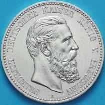 Пруссия, Германия 5 марок 1888 год. Фридрих III Серебро А.