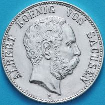 Саксония 2 марки 1901 год. Серебро.