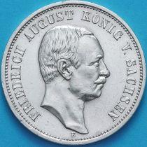 Саксония 3 марки 1911 год. Серебро.